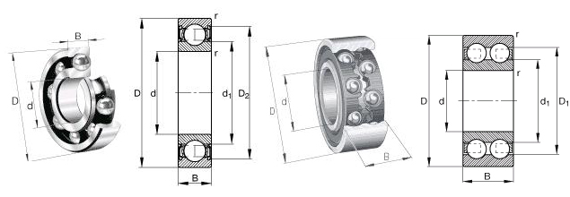 SKF 634-2RS1 bearing